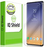 IQ Shield Screen Protector Compatible with Samsung Galaxy S10 (6.1)(2-Pack)(Case Friendly, Version 2)(NOT Compatible with Verizon S10 5G 6.7 inch) LiquidSkin Anti-Bubble Clear Film