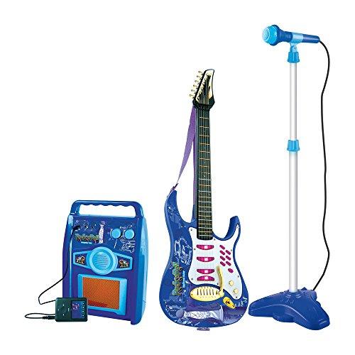 Grandi Giochi- Set Musicale Chitarra con Microfono e Amplificatore, GG61279