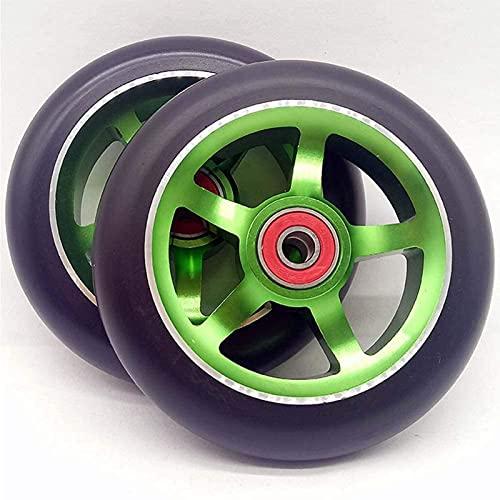 Wheels Ruedas De Reemplazo De Monopatín Extremas, Rueda De Scooter De 110 Mm Pro, 110 Mm X24 Mm con Cojinetes ABEC 9, con Alta Resistencia Y PU Resistente Al Desgaste