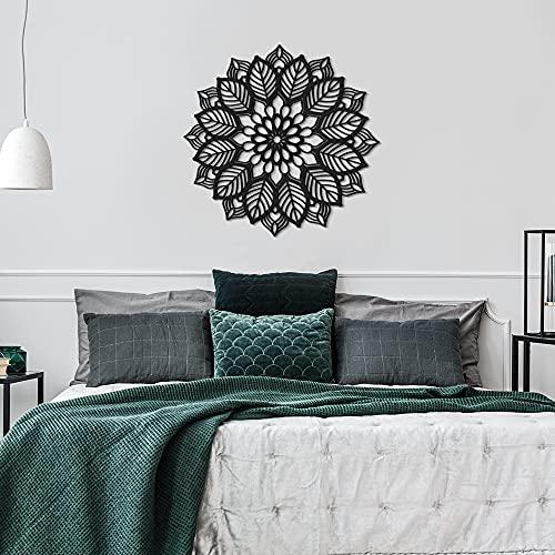 ODUN ARTS - Mandala - Cuadros Decorativos Modernos Elaborados en Madera - Decoración Elegante de Pared - 47 cms de diámetro x 0.6 cm...