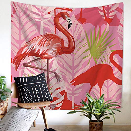 N/A Impresión 3D De Tapices Tapiz De Flamenco Animal Tropical Colgante De Pared Decoración Floral Estampado Rosa Ropa De Cama Mujer Microfibra Ropa De Cama Decoración Vacaciones 130 Cm X 150 Cm