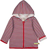 loud + proud Unisex Baby Wendejacke mit Kapuze, GOTS Zertifiziert Jacke, Chili, 74/80