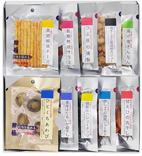 敬老の日 ギフト おつまみ 詰め合わせ セット 伍魚福(ごぎょふく)ひとくちあわび入り珍味を極める10品セット