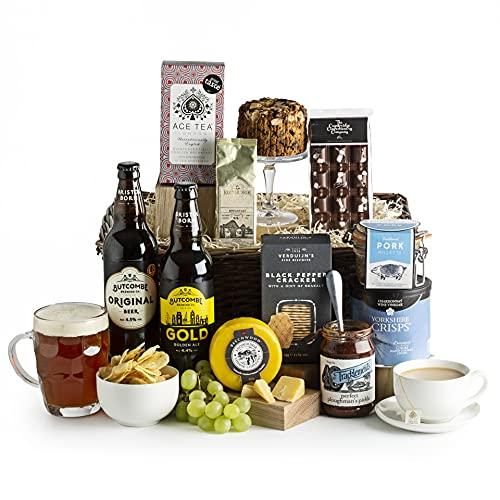 Gentleman's Tea Hamper - Beer and Cheese Hampers - Luxury Beer Hampers - Real Ale and Cheese Gift Basket