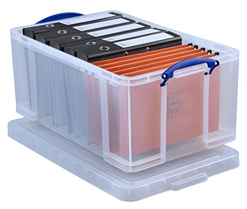 Really Useful Box 64CCB Aufbewahrungsbox, 64 L, klar transparent