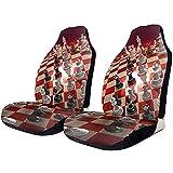 Fundas de asiento de coche Un juego de ajedrez mundial Fundas de asiento delantero universales Manta de silla de montar Protectores de cubierta de asiento para automóviles