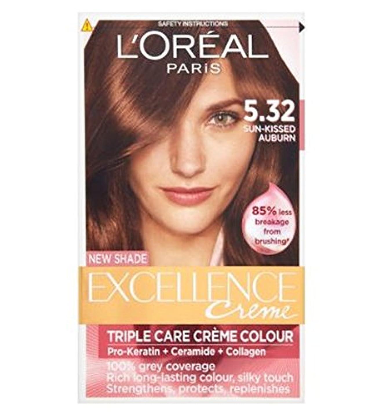 チャレンジ寄稿者建てるL'Oreall Excellence 5.32 Sun-Kissed Auburn - L'Oreall優秀5.32日、キス赤褐色 (L'Oreal) [並行輸入品]
