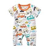 Nwada Pelele Bebe Niño Verano Pijama Niña Body Recien Nacido Mono Camiseta Mameluco Naranja Disfraz Corto Ropa 6-9 Meses