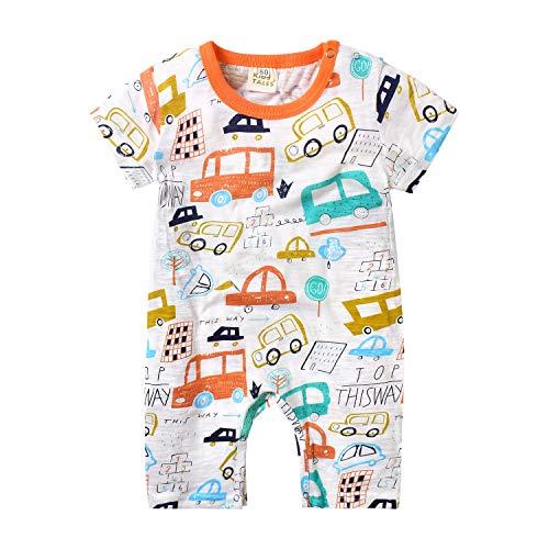 Pijama Bebe Verano, Ropa Niña 3-6 Meses, Pelele Recien Nacido, Body, Camiseta Mamelucos, Mono Corto, Disfraz Naranja