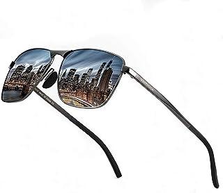 نظارات شمسية مستقطبة مستطيلة خفيفة الوزن للغاية للرجال - إطار معدني للجولف للحماية من الأشعة فوق البنفسجية بنسبة 100% 2462