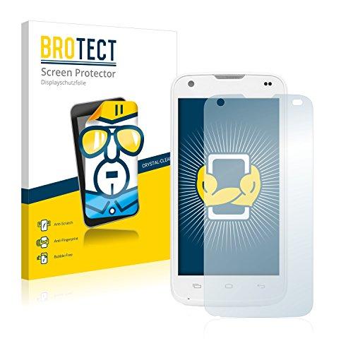 BROTECT Schutzfolie kompatibel mit Kazam Th&er 345L (2 Stück) klare Bildschirmschutz-Folie