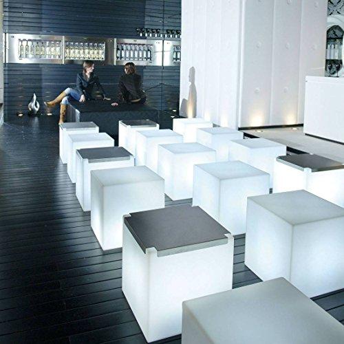 CUBO–Cube Leuchtwürfel Outdoor weiß H40cm–Hausnummernleuchte Slide G80590durch