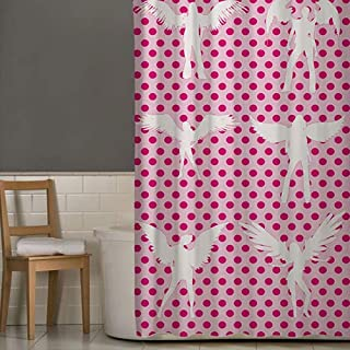Right Canvas Pink/White 180cm x 200cm Shower Curtain - RG138NPIC00043