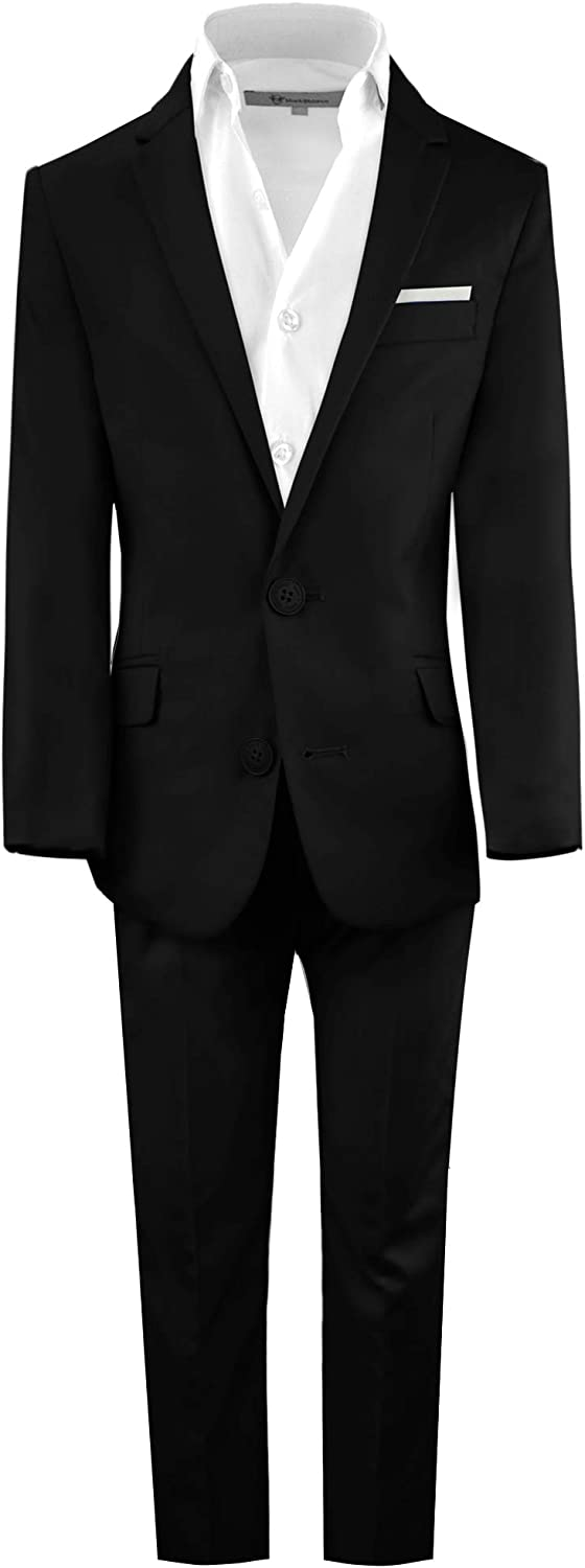 Black n Bianco wholesale Boys' First Class Slim Suits In a popularity Lightweight Fit Styl