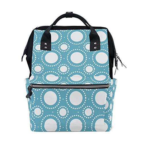 Bolsa de pañales para momia, bolsas de mayor capacidad, bolsa de pañales de bebé, colores sólidos, formas redondas, multifunción, mochila de viaje