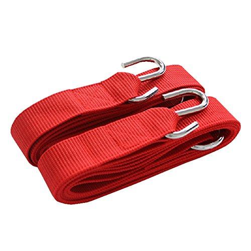 Arbre PREMIUM Hamac Kit de suspension en corde Sangles avec crochets + Sac – Rouge
