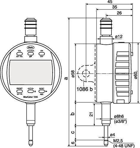 MAHR MarcatorÃ' 1085Ã' b Ö senrà 1) 4ckwand Marcator 1085 b para Außenring-D. 65 mm Z. Messuhr/Feinzeiger MAHR, fÃ1) 4r Außenring-à ¼ ¼ ¼ ¼ ¼ r 65 mm,