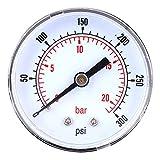 "1//8/"" BSPT base de entrada 11 Bar 40mm Seco//Neumático Manómetro 0-160 PSI"