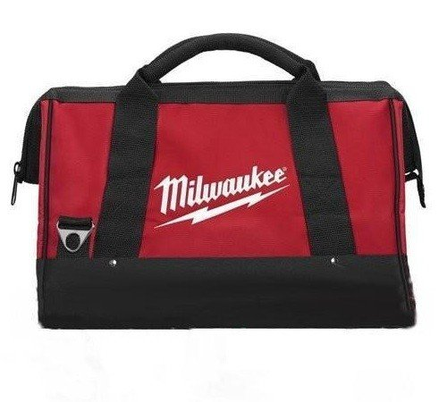 Milwaukee 17 Inch Heavy Duty Canvas Tool Bag with 6 Interior Pockets, Reinforced Bottom, and Strap Ring (Shoulder Strap Not Included)