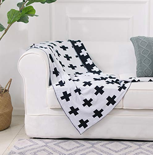 Top 10 geometric throw blanket black and white for 2020