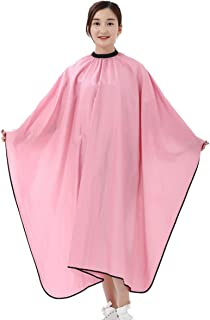 Waterproof Hair Styling Cape Haircut Cape Non-stick hair Unisex Hair Conditioning Hot Oil Shawl Cloth Pink