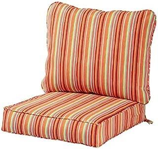 Greendale Home Fashions Deep Seat Cushion Set Watermelon Stripe with Home Decor