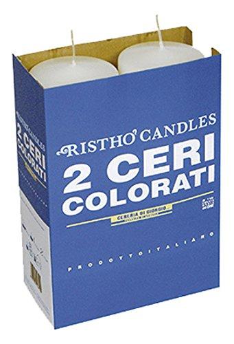 Cereria di Giorgio Risthò Ceri, Cera, Bianco, 7x7x20 cm, 2 unità