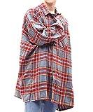 G.O.C(ジーオーシー) ビエラチェックシャツ メンズ 起毛オーバーサイズシャツ 秋冬 グレータータン