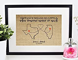 handmade gifts for long distance boyfriend ~ Custom Wall Art
