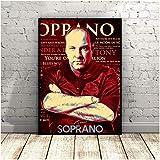 FGVB Póster de Tony Soprano, póster, Cuadros de Pared para decoración de Sala de Estar, pintura-60x70CM sin Marco