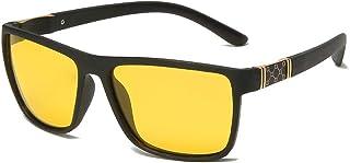 X&L - Gafas de Sol polarizadas Hombres Que conducen Visera para Hombres Gafas de Sol TR90 Hombres piernas de Fibra de Carbono UV400-NV Negro