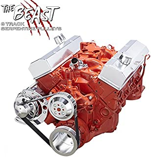 Chevy Small Bock Serpentine Conversion Kit - Alternator Only Applications