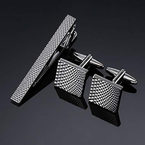 jiao Manschettenknöpfe und Krawattenklammern Set für Trauzeugen schwarz Edelstahl Manschettenknopf und Krawattennadel Manschettenknöpfe und Krawattenhalter