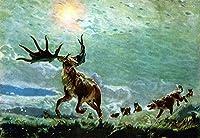 大人のパズル500ピースエルク巨大動物古代動物クリスマスプレゼント52x38cm