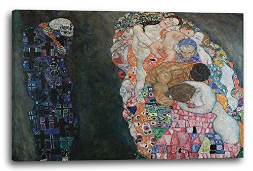 Printed Paintings Leinwand (120x80cm): Gustav Klimt - Tod und Leben (1908-1915)