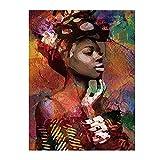 SWIDUUK Leinwandbild mit Meeresfrüchten, Afrikanische Frau, Wandbild, Büro, Wohnzimmer, Dekoration, Bilder auf Leinwand, Wandaufkleber, Kunst für Schlafzimmer, Heimdekoration, canvas, 1#, 50 x 70 cm