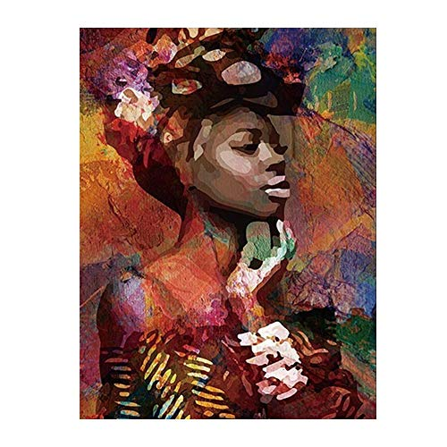 Homeofying Canvas Painting African Woman Lady Picture Poster Wall Office Living Room Decor Nordic Wall Posters & Prints Wall Paintings 1# 50 * 70cm