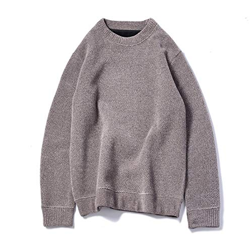 qishi Suéteres para hombre, Suéteres de cuello redondo, Suéteres de fondo
