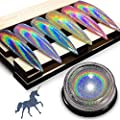 Holographic Nail Powder - iMethod Chrome Nail Powder, Premium Salon Grade Rainbow Unicorn Mirror Effect Multi Chrome Manicure Pigment