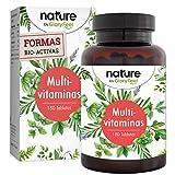 Multivitaminas y Minerales de la A-Z - Vitamina C de Acerola - Complejo vitamínico premium altamente biodisponible - 180 Tabletas - 6 meses - Vitaminas y Minerales para Hombres y Mujeres