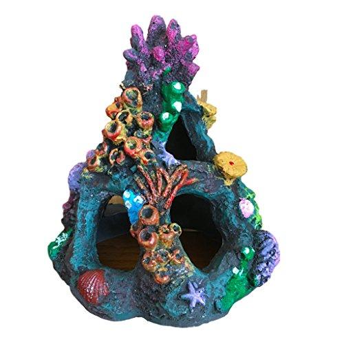 【J's select】水槽 用 オブジェ アクアリウム オーナメント 珊瑚 サンゴ 装飾 魚 の 隠れ家に (カラフル2)
