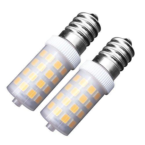 MZMing [2 Piezas] Ahorro de Energía E14 LED Bulb 4w Alternativa 40w Halógena Bulbo Hood Blanco Cálido Light Regulable 3000K 450lm-low Calorías Usado para Refrigeradores/Máquinas DE Coser