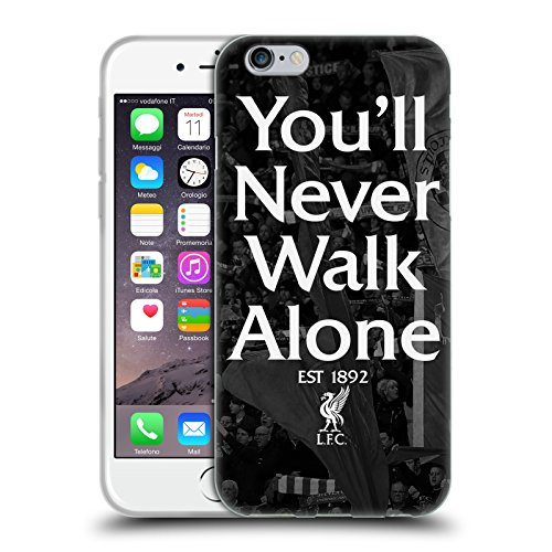 Head Case Designs Offizielle Liverpool Football Club Kop 1 Du Wirst Nie Alleine Laufen Soft Gel Huelle kompatibel mit Apple iPhone 6 / iPhone 6s