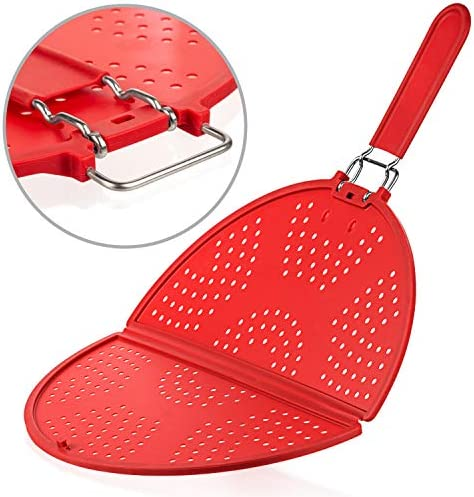 Splatter Screen for Frying Pan 12 Inch Grease Splatter Guard Foldable Splatter Screen Strainer product image