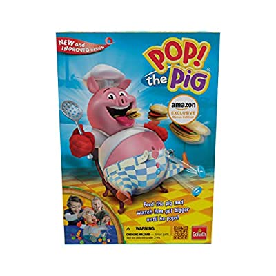 Goliath Amazon Exclusive Bonus Edition Pop The Pig - Includes 24Pc Pop The Pig Jigsaw Puzzle!