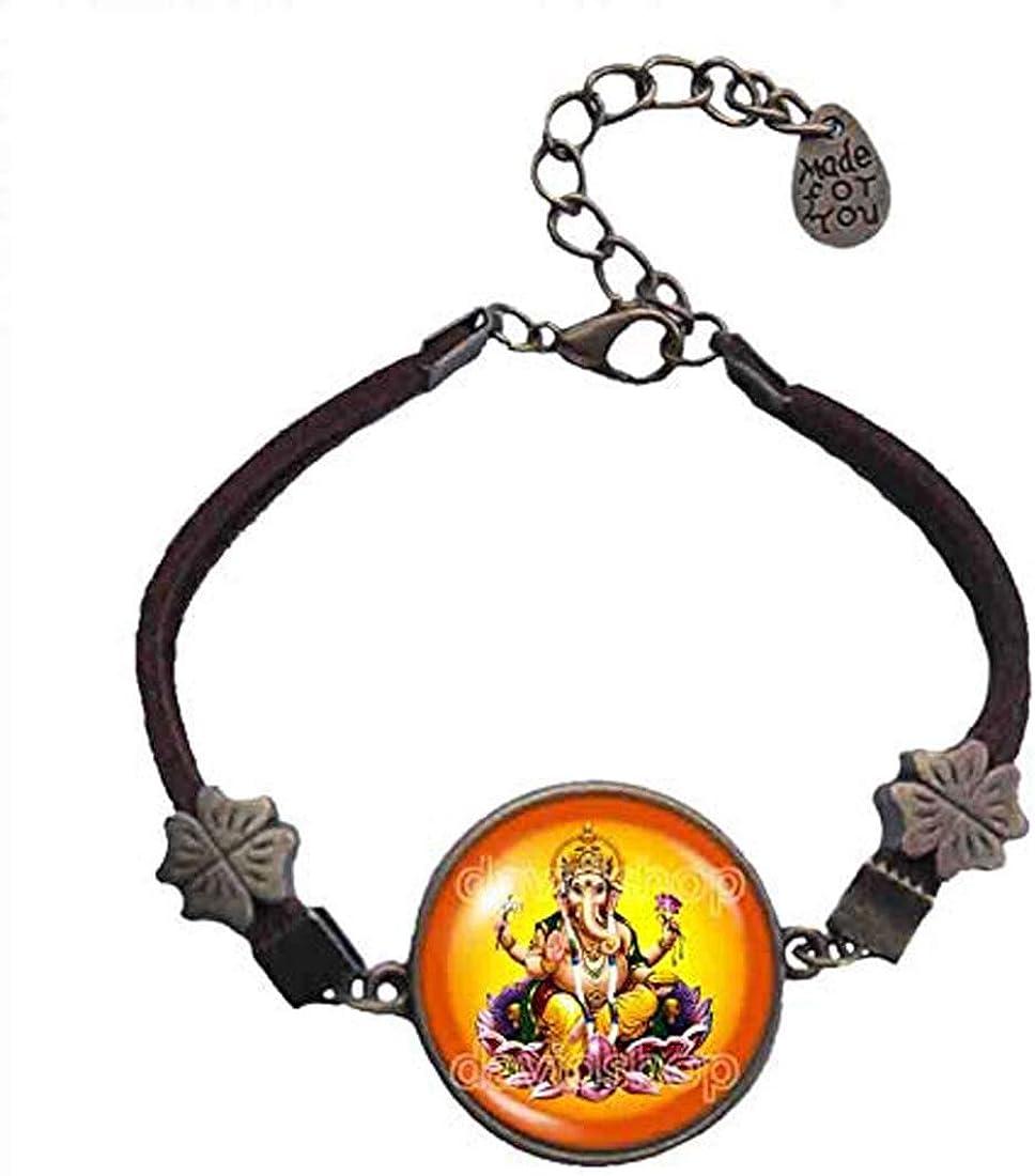 Handmade Fashion Jewelry Ganesh Ganesha Bracelet Hindu Gods Goddesses Om Cosplay Charm