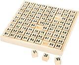 Small Foot 7583 Table de multiplication en bois, apprenez l'arithmétique de façon ludique, à partir de 7 ans