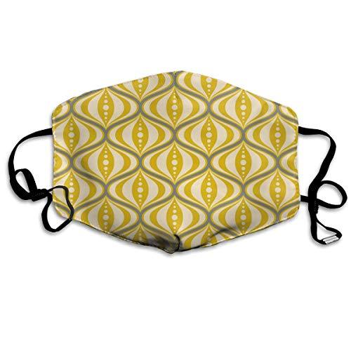 Dnwha Polyester-Maske im Retro-Stil, gelbe Untertasse, staubdicht, mit Knöpfen zur Anpassung der Festigkeit, geeignet für jeden