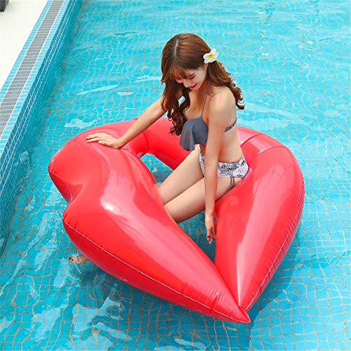 SSBH Anelli gonfiabili gonfiabili del labbro del labbro, letto di galleggiamento gonfiabile dell\'acqua di fila del PVC di galleggiamento del labbro, giocattoli di partito di nuotata, lettino della zat