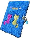 La Vida en Led Diario Peluche Suave con candado Regalo Infantil (Azul)